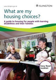 What are my housing choices? Learning ... - Islington Council