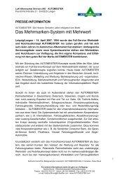 Das Mehrmarken-System mit Mehrwert - AUTOMEISTER