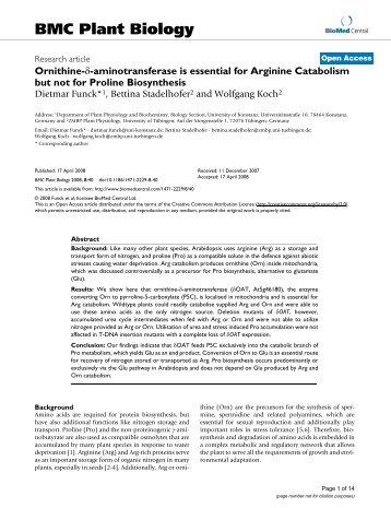 BMC Plant Biology - Critical Care