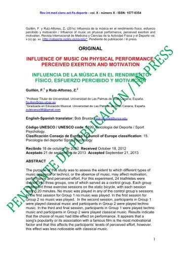 estudio exploratorio sobre influencia de la música en el rendimiento ...