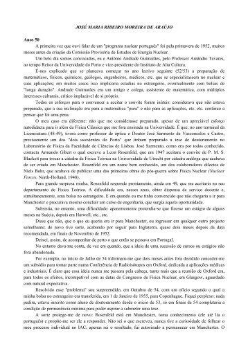 josé maria ribeiro moreira de araújo - Instituto Tecnológico e Nuclear