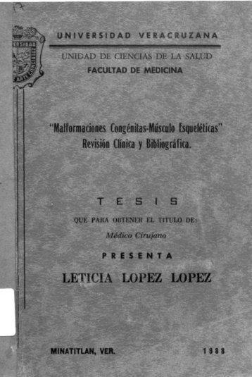 LETICIA LÓPEZ LÓPEZ - Universidad Veracruzana