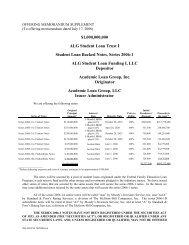 offering memorandum alg student loan trust i - Irish Stock Exchange