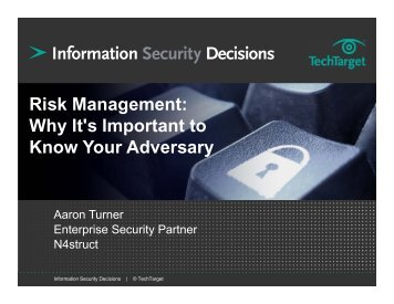 Risk Management: Why It's Important to Know Your Adversary