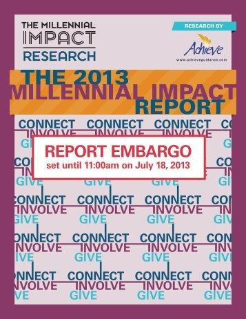 Millennial Impact Report - TrustedPartner