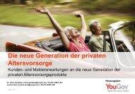 Die neue Generation der privaten Altersvorsorge - YouGov
