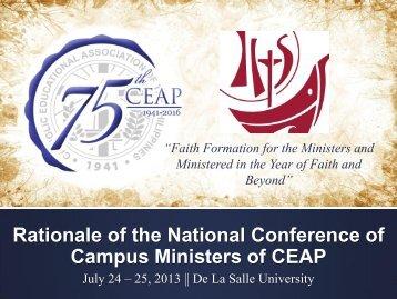 Day 1 - Rationale - Msgr. Gerardo O. Santos - Catholic Educational ...