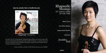 Full CD Booklet - Cedille Records