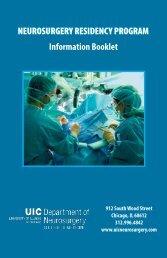 UIC Neurosurgery Residency Booklet - University of Illinois College ...