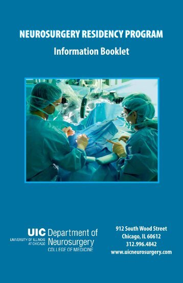 UIC Neurosurgery Residency Booklet - University of Illinois College ...