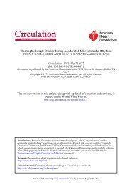 Electrophysiologic Studies during Accelerated ... - Circulation