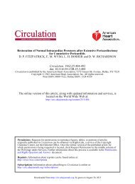 Restoration of Normal Intracardiac Pressures after ... - Circulation