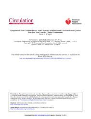 Symptomatic Low Gradient Severe Aortic Stenosis with ... - Circulation