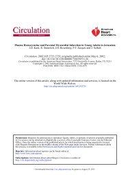 Plasma Homocysteine and Parental Myocardial ... - Circulation