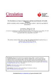 Pre-Excitation as a Cause of Appearance and ... - Circulation