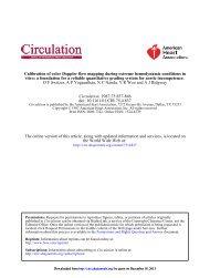 extreme hemodynamic conditions in vitro: a foundation ... - Circulation