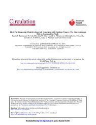 Ideal Cardiovascular Health is Inversely Associated ... - Circulation