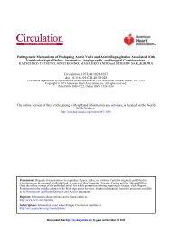 Pathogenetic Mechanisms of Prolapsing Aortic Valve - Circulation