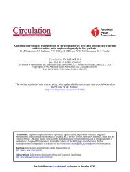 Anatomic Correction of Transposition of the Great Arteries - Circulation