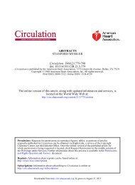 ABSTRACTS - Circulation