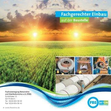 FBS-Richtlinie Fachgerechter Einbau auf der Baustelle - bei ...