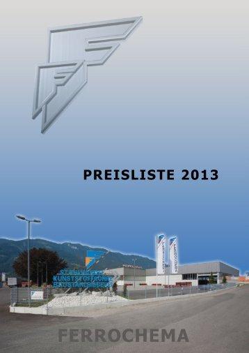 Aktuelle Preisliste 2013