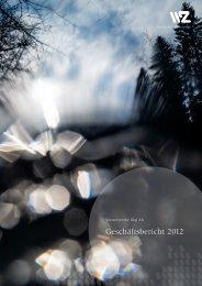 Geschäftsbericht 2012 - Wasserwerke Zug AG