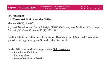 Kapitel 1 – Grundlagen 1) Grundlagen 1.1 Wesen und Funktionen ...