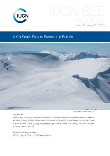 IUCN South-Eastern European e-Bulletin 32 (Winter 2012/2013)