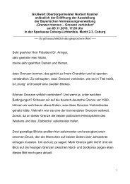 """05.11.2010 Ausstellung """"Grenzen trennen – Grenzen verbinden"""""""