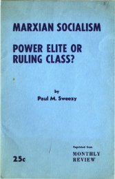 MARXIAN SOCIALISM POWER ELITE OR RULING CLASS?