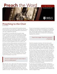 Preach the Word - Connect - Wisconsin Evangelical Lutheran Synod