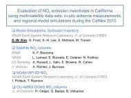 Evaluation of NO emission inventories in California using multi ...