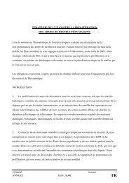 Stratégie de l'UE contre la prolifération des armes de destruction ...