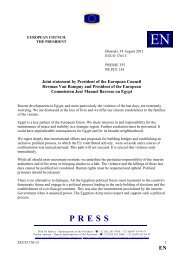 Joint statement by President of the European Council ... - Europa