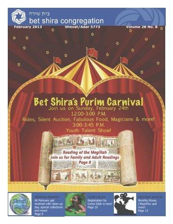 February 2013 Shevat/Adar 5773 Volume 28 No. 8 - SeekAndFind ...