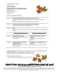 Procrastinator's Pesticide Clinic - WSU Extension Counties
