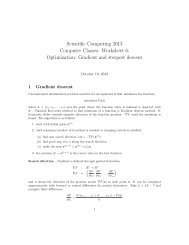 Optimization: Gradient and steepest descent