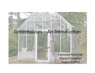 Greenhouses – An IntroducEon - WSU Extension Counties