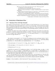 Extensions and generalizations of maximum flow