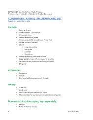 2013 Copenhagen Travel Study Packing List