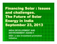 Financing Solar : Issues and challenges. The Future of Solar ...