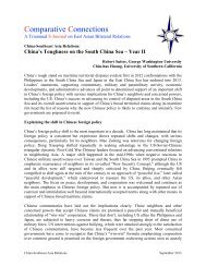 China-Southeast Asia Relations - Center for Strategic and ...