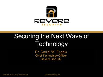 Securing the Next Wave of Technology - Computer Security ...