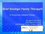 Brief Strategic Family Therapy - CTN Dissemination Library