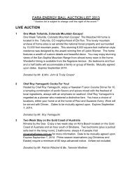 View Auction Items - The Friedreich's Ataxia Research Alliance