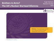 Brothers in Arms? The UK's Nuclear Warhead Dilemma