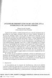 Análisis de errores léxicos del español en la interlengua de los ...