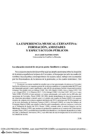 La experiencia musical cervantina - Centro Virtual Cervantes