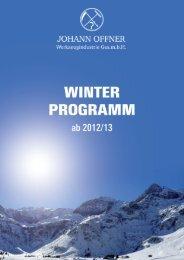 Winterprospekt - Johann Offner